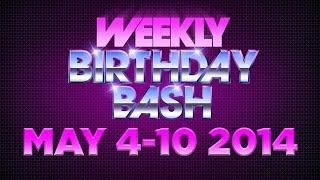 Celebrity Actor Birthdays - May 4-10, 2014 HD