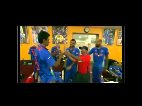 Indian players in dressing room after winning worldcup 2011 - Rear Video!!!
