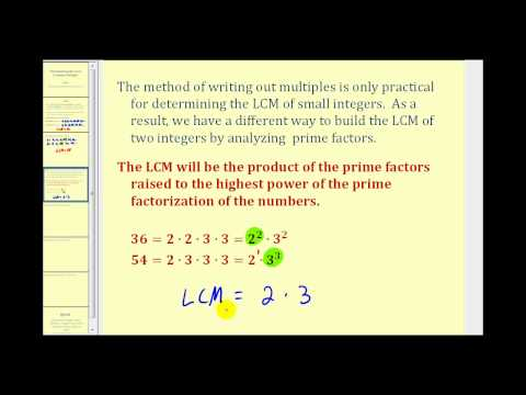 Determining the Least Common Multiple
