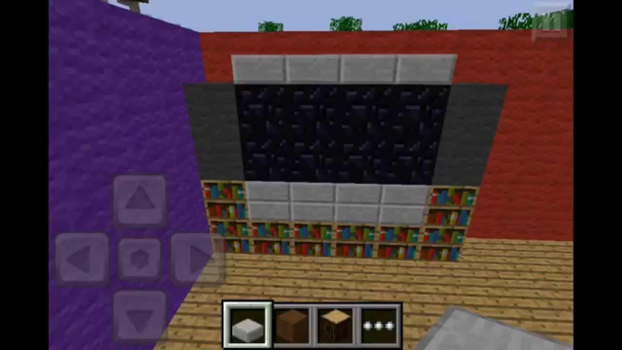 Minecraft pe tutorial 6 living dining room youtube for Dining room minecraft