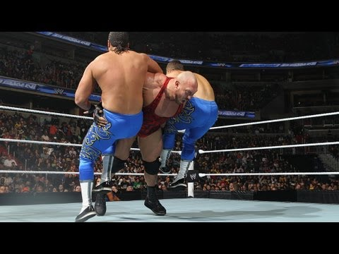 Ryback vs. Primo & Epico - 2-on-1 Handicap Match: SmackDown, April 5, 2013