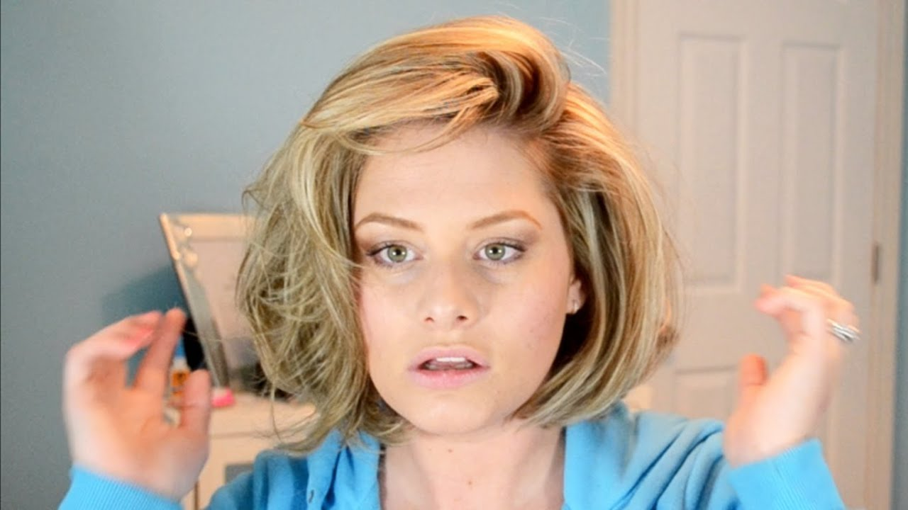 BIG Hair Tutorial! Hot Rollers In Short Hair - YouTube