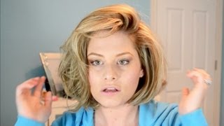 BIG Hair Tutorial! Hot Rollers In Short Hair
