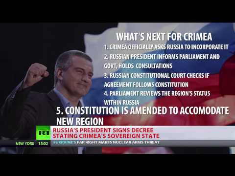 Putin signs decree stating Crimea as sovereign independent state