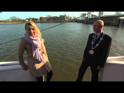 Reporter Falls In The Water During An Interview