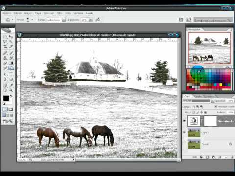 Photoshop: Efecto Nieve / Snow Effect