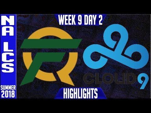 FLY vs C9 Highlights | NA LCS Summer 2018 Week 9 Day 2 | FlyQuest vs Cloud9