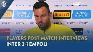 "INTER 2-1 EMPOLI   SAMIR HANDANOVIC INTERVIEW: ""We had to suffer but winning was what mattered"""