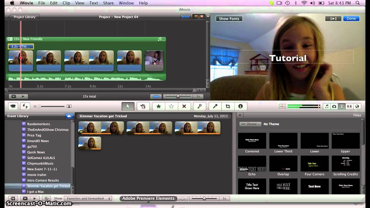 Basic iMovie Effects - New Beginners - YouTube