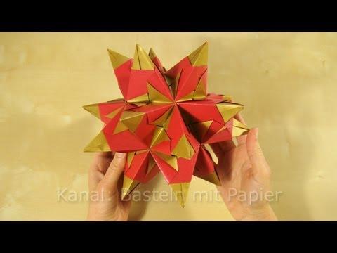 bascetta stern anleitung f r origami stern youtube. Black Bedroom Furniture Sets. Home Design Ideas