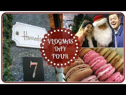 Christmas Shopping In Harrods With Alfie & Steve | VLOGMAS