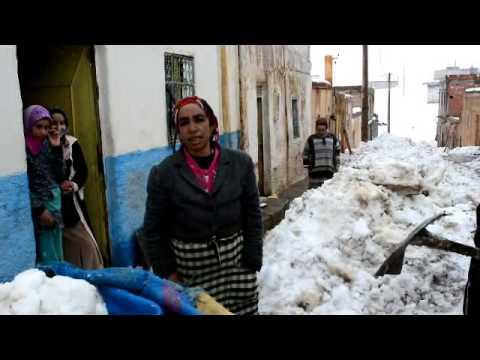 حي الشعبة – ميدلت والمعاناة مع الثلج