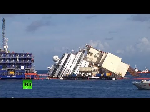 Подъем Costa Concordia (CC recovery operation)