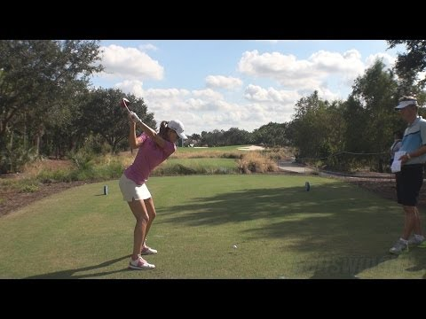 MICHELLE WIE - BALL FLIGHT DTL DRIVER GOLF SWING LATE 2013 - REG & SLOW MOTION - 1080p