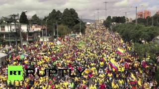 Colombia: World Cup team given a heroes welcome in Bogota