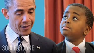 Kid President Meets The President Of The United States Of