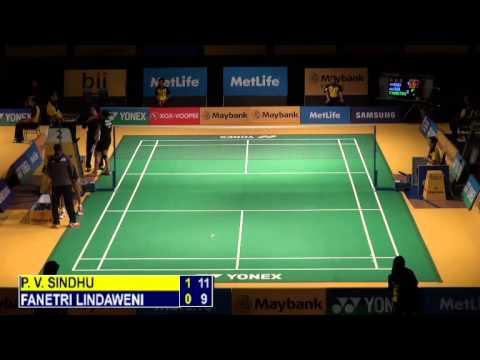 R32 - WS - Sindhu P. V. vs Lindaweni Fanetri - 2014 Malaysia Badminton Open