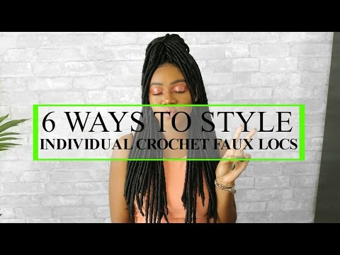 6 WAYS TO STYLE FAUX LOCS | INDIVIDUAL CROCHET HAIRSTYLES | JAZZ NICOLE