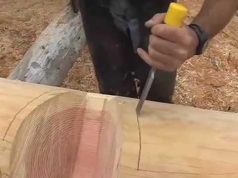 Łączenie bali poprzez nacięcie siodłowe