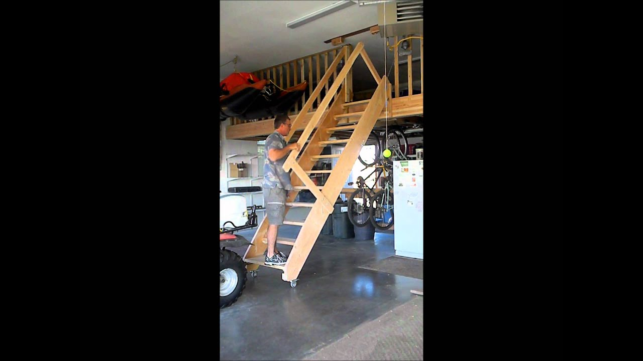 Drop Down Stairs Garage