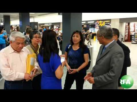 Vợ TS Cù Huy Hà Vũ đến Hoa Kỳ