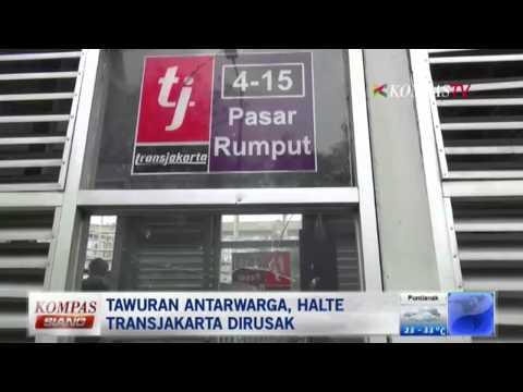 Tawuran Antarawarga, Halte Transjakarta Dirusak - Kompas Siang 6 September 2014