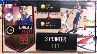 111 THREE POINTER MARKELLE FULTZ! CLAIMING 40 MIL COINS AND GAMEPLAY *ALL 99 STATS*! NBA Live Mobile