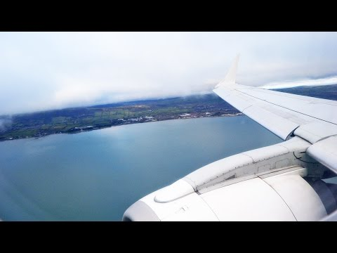 Flybe Embraer E195 G-FBEM Belfast City Airport Landing BHD BE964 [1080p HD]