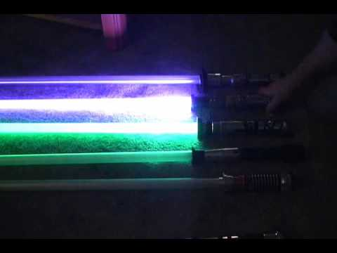Light Saber LEDEngin RGGB and 7 MR-616s -- tons of light sabers!