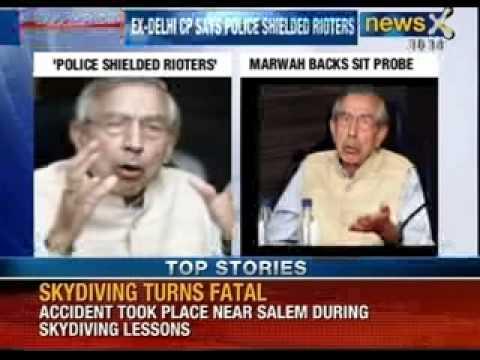 NewsX: Former Delhi Police Commissioner admits shielding 1984 sikh riots