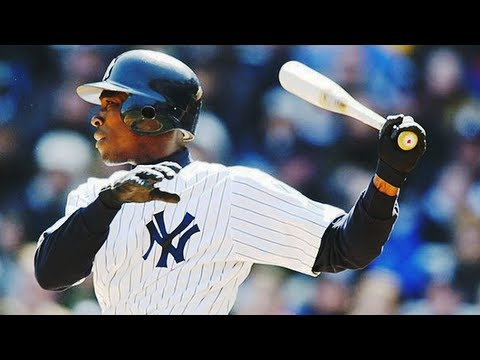 Yankees Alfonso Soriano celebrates almost HR