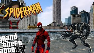 GTA 4 Spider-Carnage Mod + Venom Mod Creepy Spiderman VS
