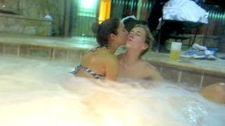 2 GIRLS KISS IN HOT TUB! (vlog Day 58)