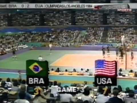 '84 Men's Olympic Volleyball: USA vs Brazil Game 3