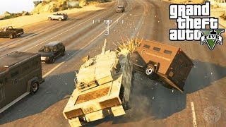 GTA 5: How To Escape The Police With A TANK! Get Away From