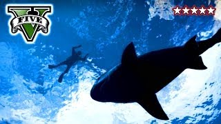 GTA 5 Shark Attack - Hunting Sharks on GTA V - Funny Crew Moments Grand Theft Auto 5