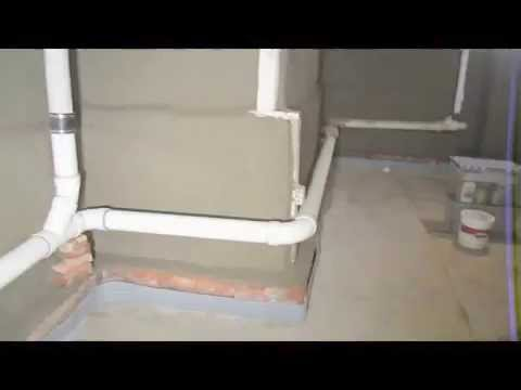 basement wall parging finished basement walls cemented youtube