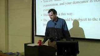 LECTURES: Professor Tom Lyon's Evidence Class 1/31/07