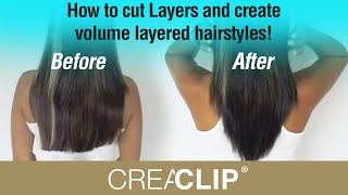 How To Cut Layers And Create Volume Layered Hairstyles