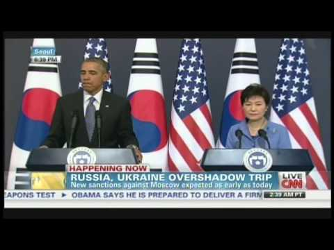 President Obama & President Park Press Conference Seoul South Korea (April 25, 2014) [2/2]