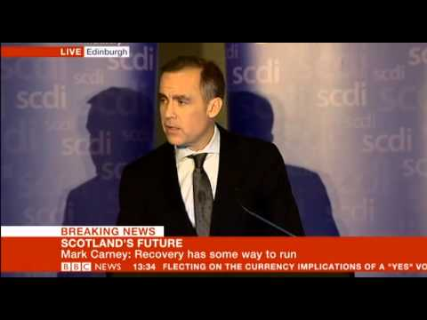 Gov of Bank on England Mark Carney on Scotland's Future pt1