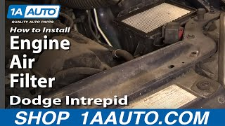 How To Install Repair Replace Engine Air Filter Dodge