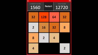 2048 Made In Visual Basic Windows Forms