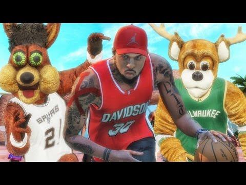 FACING TWO LEGEND 3 MASCOTS! NBA 2k16 My Park Gameplay