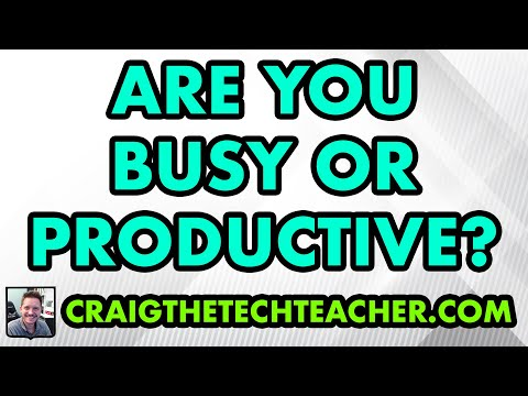IT Life: Are You Busy Or Productive? (May 22nd, 2014)