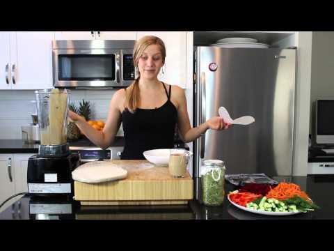 Veggie Wrap - Raw Food Recipe - 'Just Raw' Recipe Video