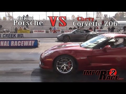 Porsche 997tt vs Chevy Corvette Z06