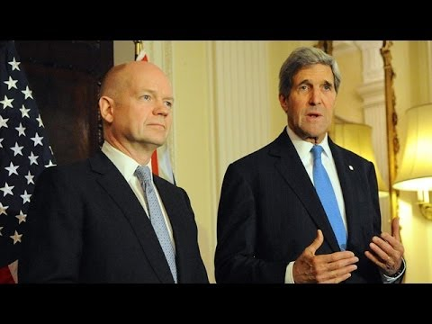 John Kerry and William Hague herald nuclear deal with Iran