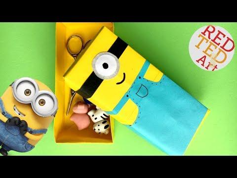 Easy Minion Paper Box DIY - School Supplies - Paper Crafts - Origami Paper Box