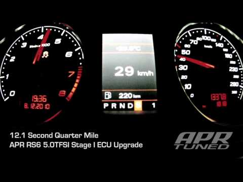 APR Stage I RS6 5.0TFSI Acceleration: 12.1 second Quarter Mile Runs!